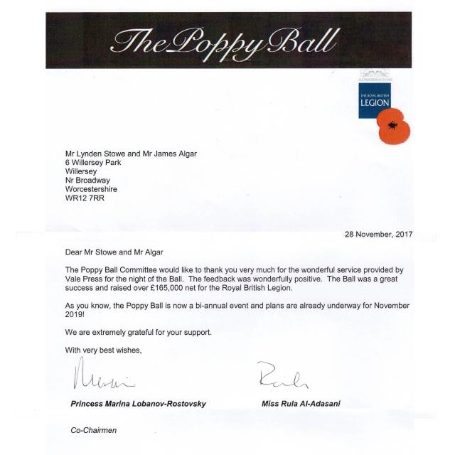 Poppy Ball Letter
